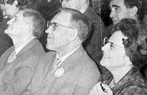 Л.Л.Артынова с Л.А.Мазелем и Ю.В.Келдышем. 60-е годы