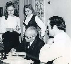Д.Б. Кабалевский и студенты училища